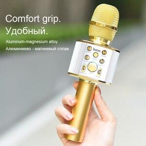 Image 5 - HOCO 가라오케 마이크 블루투스 무선 콘덴서 microfone 전문 휴대 전화 KTV 마이크 음악 플레이어 iOS 안드로이드에 대한