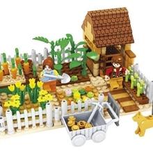 Model building kits compatible with city friends happy farm 3D blocks Educational model building