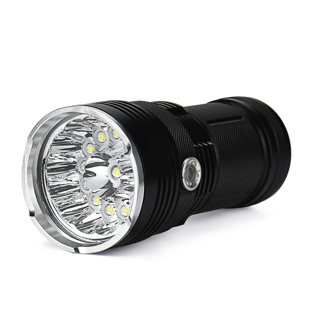 High Quality 34000LM 14 x CREE XM-L T6 LED Flashlight Torch 4x 18650 Hunting Light Lamp Lot
