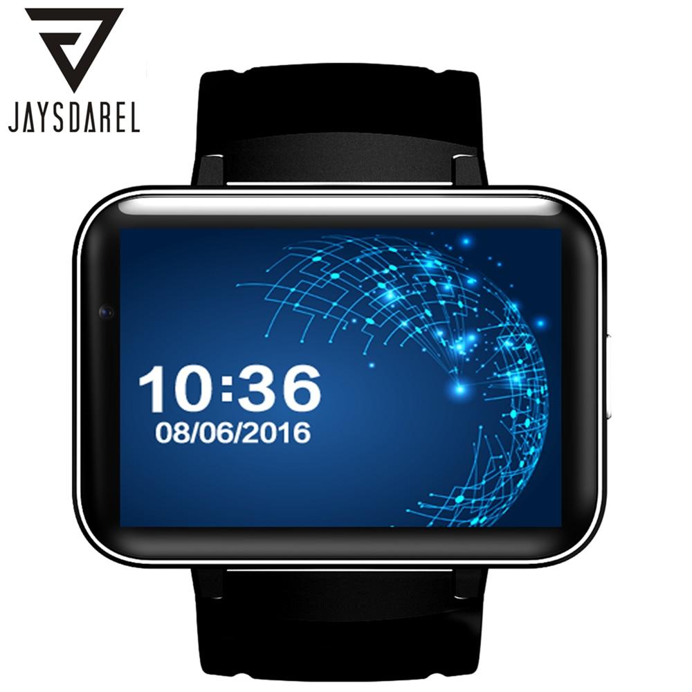 JAYSDAREL DM98 MT6572A Dual Core 1.2G Android 5.1 Smart Watch 320*240HD Resolution SIM Card 3G WIFI GPS Video Call Pedometer gps навигатор lexand sa5 hd