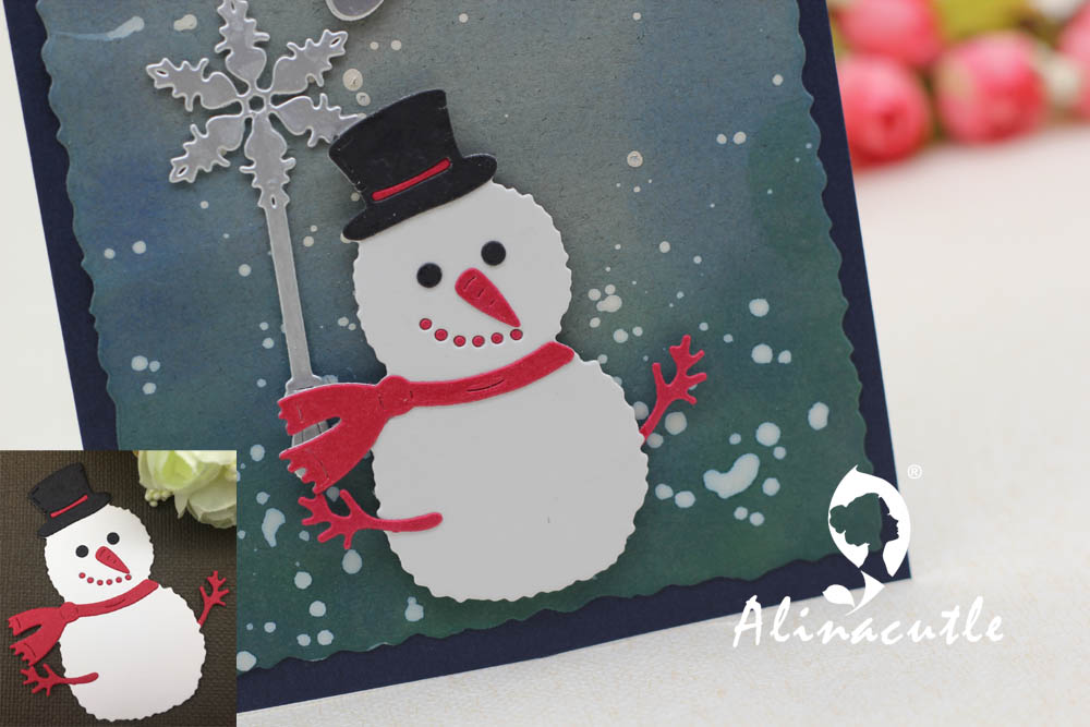 ieces Snow group die cuts for cards or scrapboo k 9