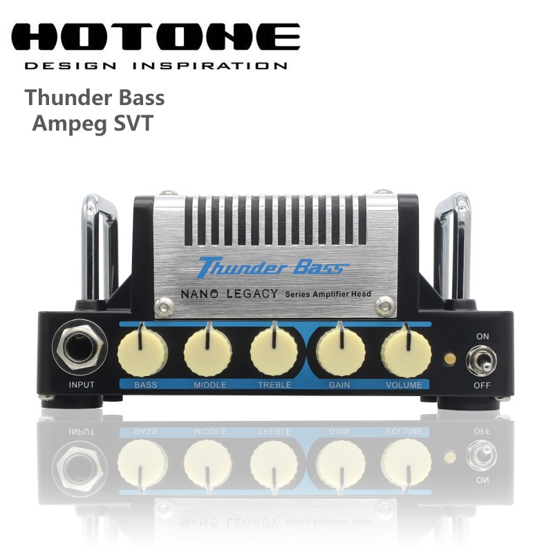 Hotone Nano Legacy Thunder Bass 5-Watt Mini Bass Guitar Amplifier Head Based on Ampeg SVT esveva 2018 women boots short plush pu lining elastic band pointed toe square high heels ankle boots ladies shoes size 34 39