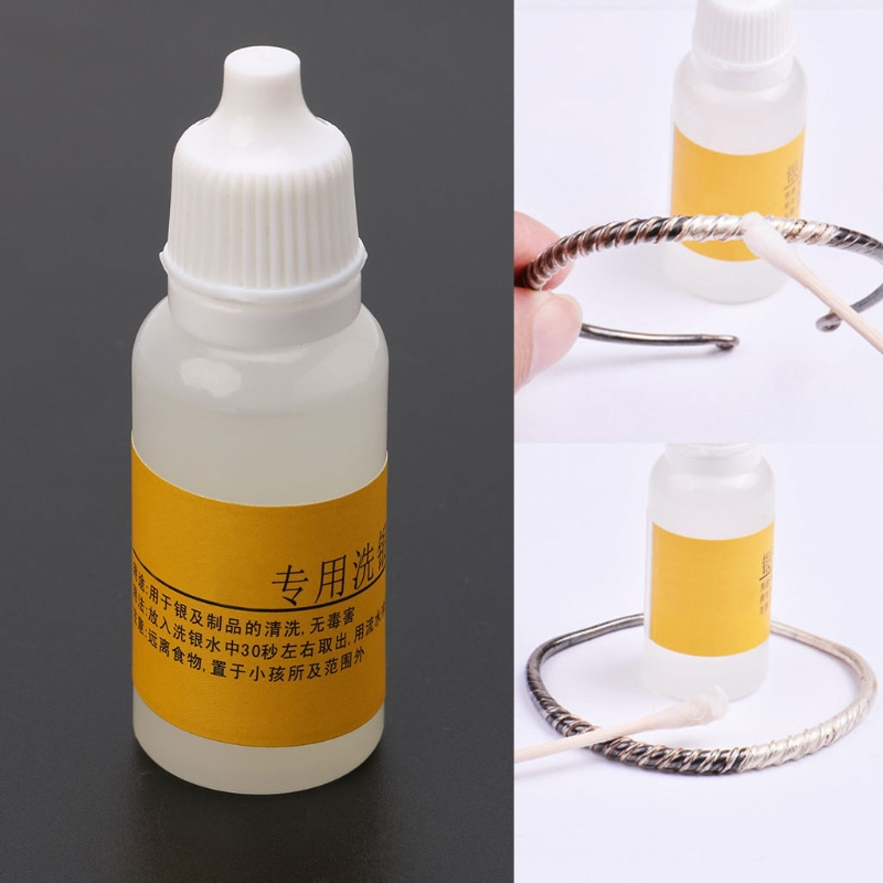 Jewelry Cleaning Kit Polishing Cloth Liquid Anti-Tarnish  Polishing Paste