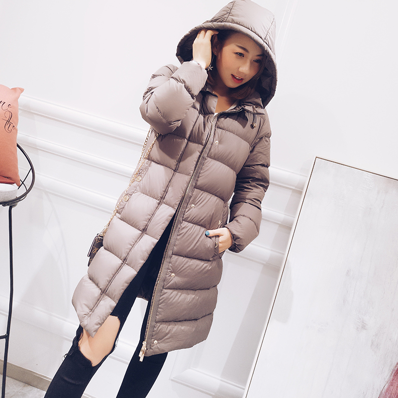Hooded thickening warm winter down jackets women white duck down coats outerwear 2018 autumn winter MOVAU0158