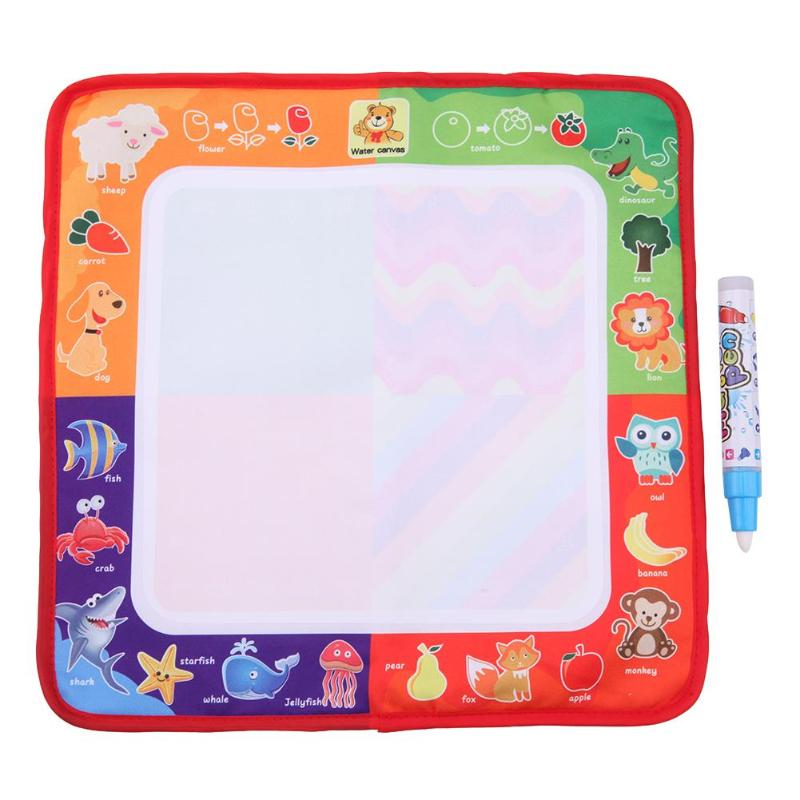 Magic Water Drawing Cloth Cloth With Doodle Painting Pen Water Painting Mat For Children Early Education Drawing Toy 29*29cm eureka single magic cloth