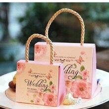 100 sztuk worek na cukierki na ślub słodka torba papierowa prezenty ślubne dla gości Bride Groom Wedding Party Decoration