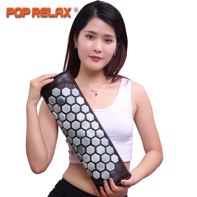 POP RELAX koea health care natural jade stone pillow cervical waist traction body pain relief physical therapy neck relax pillow soft laser healthy natural product pain relief system home lasers