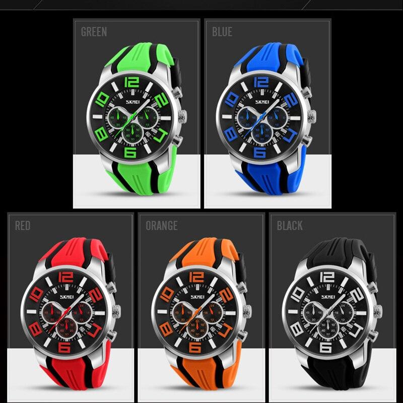 Image 4 - Relógios masculinos marca de luxo skmei chronograph men sports  relógios à prova dwaterproof água masculino relógio de quartzo reloj  hombre 2018Relógios de quartzo