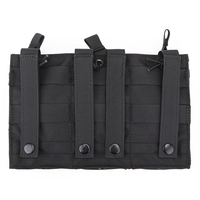 Tactical triple magazine pouch for