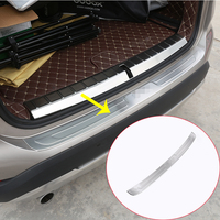 For BMW X1 f48 2016 2017 304 Stainless Rear Bumper outer Sill Plate Protector Cover Trim Stickers Car accessories