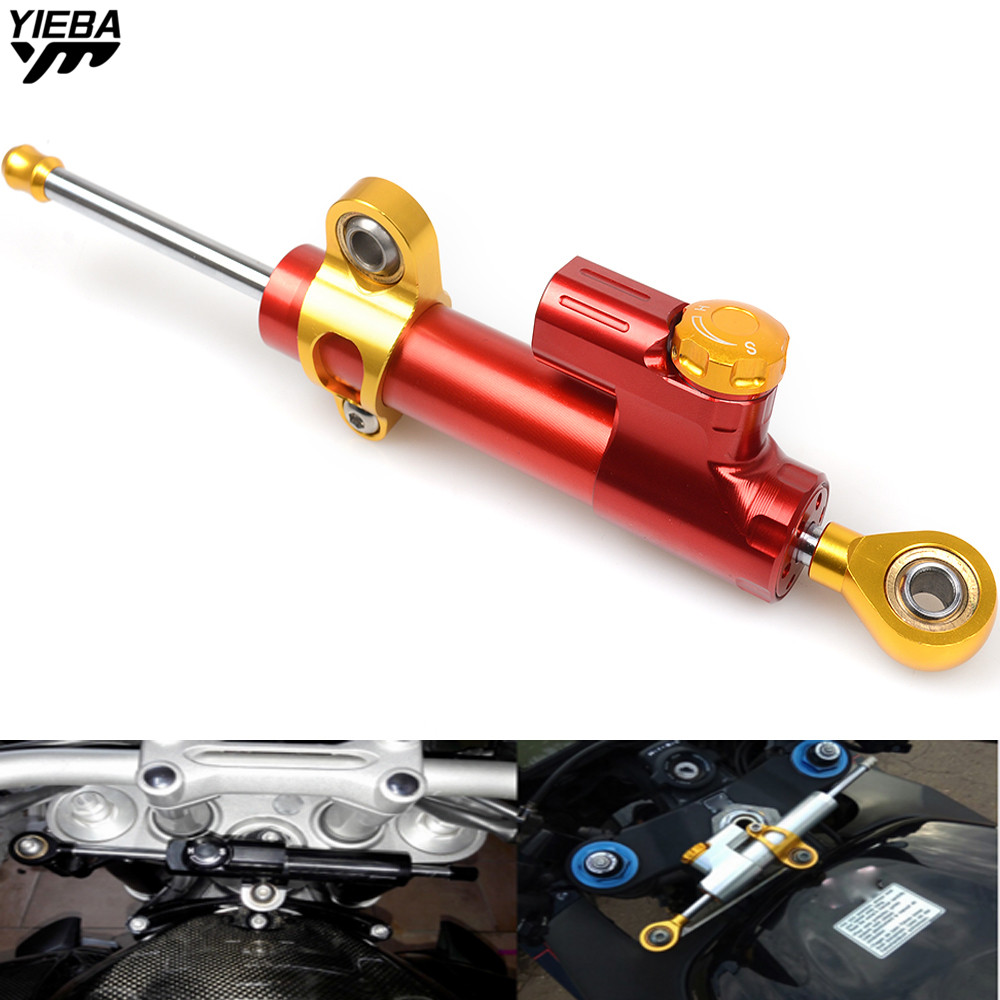 Universal Motorcycle Steering Dampers Stabilizer FOR honda CBR 600 F2 F3 F4 F4i Black SpiRit CRF1000L