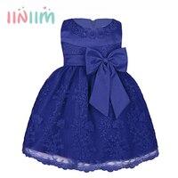 Bestickt Neugeborenes Baby Mädchen Taufe Kleid Ballkleid Festzug Brautkleider Infantil Kleine Mädchen 1st Birthday Party Kleid