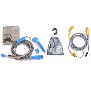 Image 4 - Portable 12V Car Caravan Hiking Travel Shower Pump Pipe Kit Electric Car Plug Outdoor Camper Caravan Van Camping Travel Shower