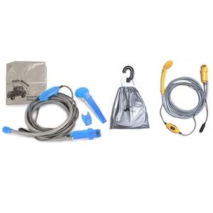 Image 2 - Portable 12V Electric Car Plug Outdoor Camper Caravan Van Camping Travel Shower Car Caravan Hiking Travel Shower Pump Pipe Kit