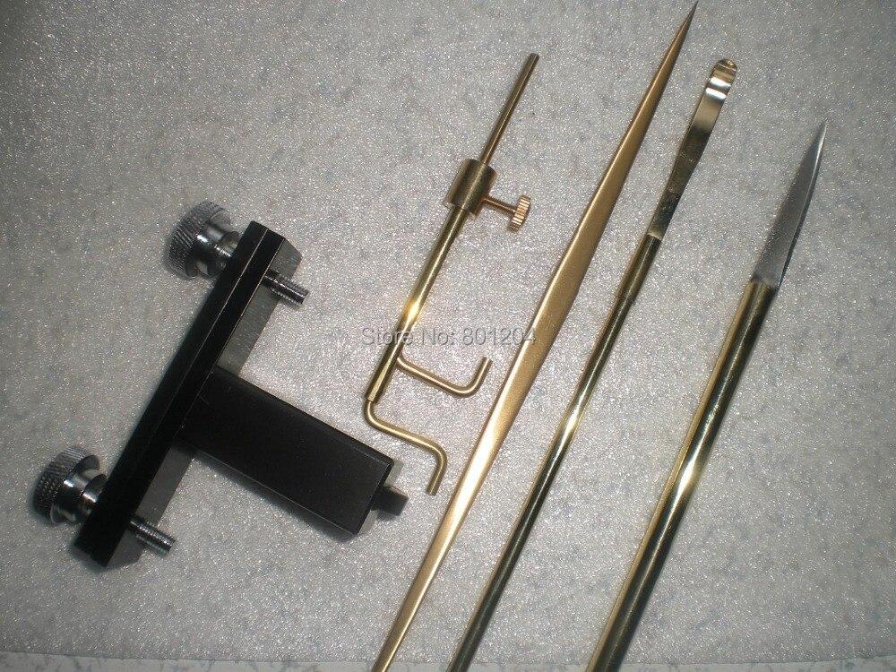 ФОТО 5 PCs Violin making luthier tools sound post setter knife retriever gauge