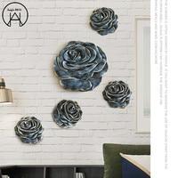 Three dimensional Rose Wall Decoration Wall Sticker Resin Walls Decor Bedroom Decor House Decoration