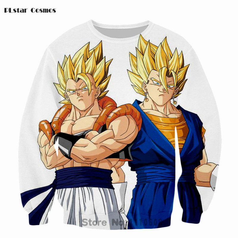 PLstar Cosmos Anime Dragon Ball Sweatshirts Cute Kid 3D Sweatshirt Women Men Long Sleeve Outerwear Hip Hop Pullovers Sportswear