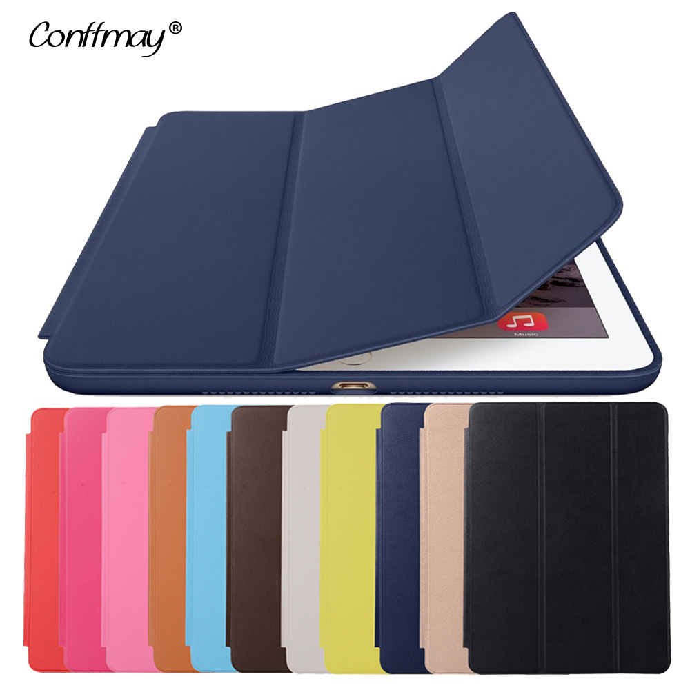 Luxury Original Official 1:1 Slim Leather Magnetic Smart Cover Cases for 2017 New ipad 9.7 A1822 A1823 Tablet Case With Logo free shipping new 10 1 original stand magnetic leather case cover for lenovo ibm thinkpad 10 tablet pc with sleep function