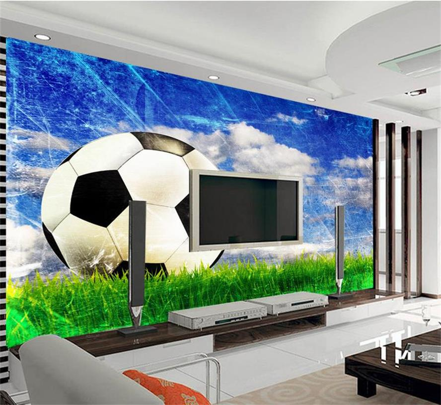 3d murals wallpaper Football grass photo custom non-woven Sticker room sofa TV background wall painting wallpaper for walls 3d 3d murals wallpaper kids room football baby photo high end custom non woven wall sticker room sofa tv background wall painting