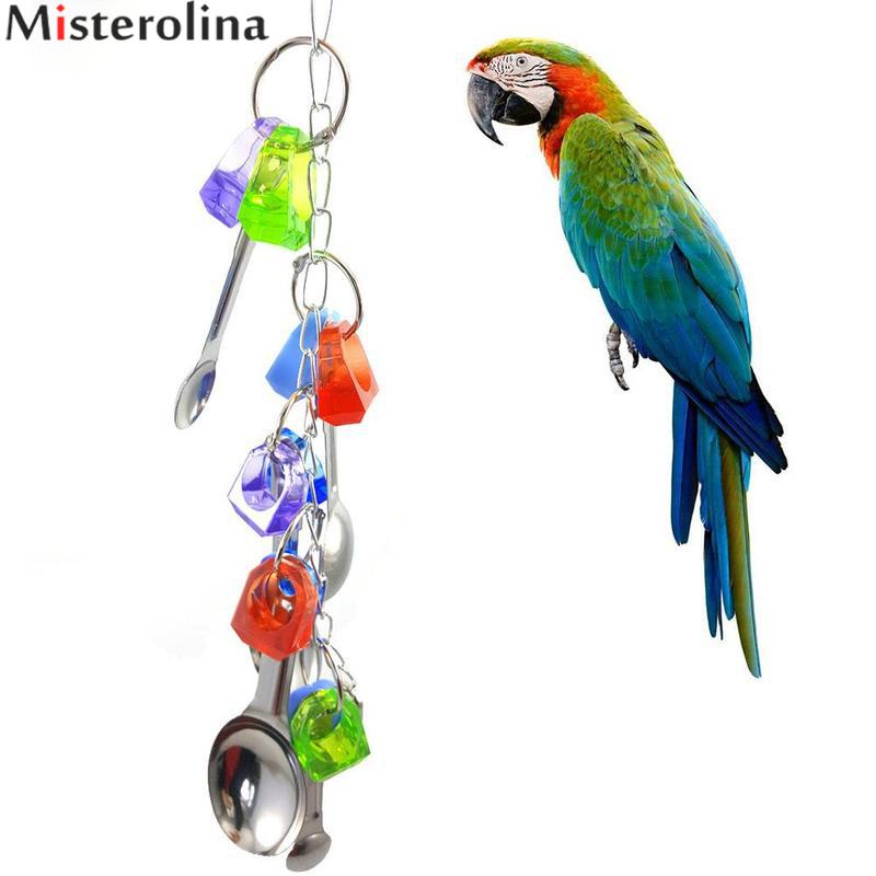 Dedicated Bird Toys Pet Bird Metal Ring Bell Hanging Cage Toys For Parrot Hanging Swing Cockatiel Parakeet Cage Toys For Birds Supplies Bird Toys Bird Supplies