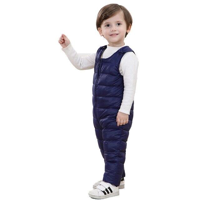 Вниз брюки Зимние брюки для детей Зимние Брюки Гибкая вниз брюки