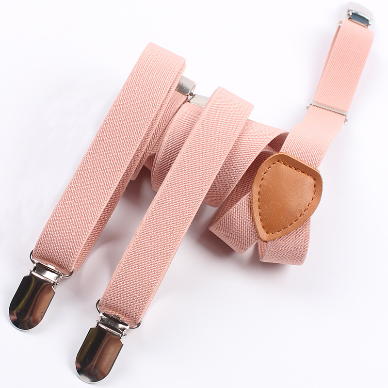 Solid Color Elastic Y-shape Clip-on Braces Men 3 Clips Suspenders Trousers Strap Adjustable Leather Suspender Belt ...