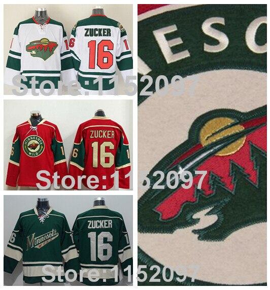 info for a8915 8a46f Minnesota Wild Jason Zucker Jersey Ice Hockey 16 Home Road ...