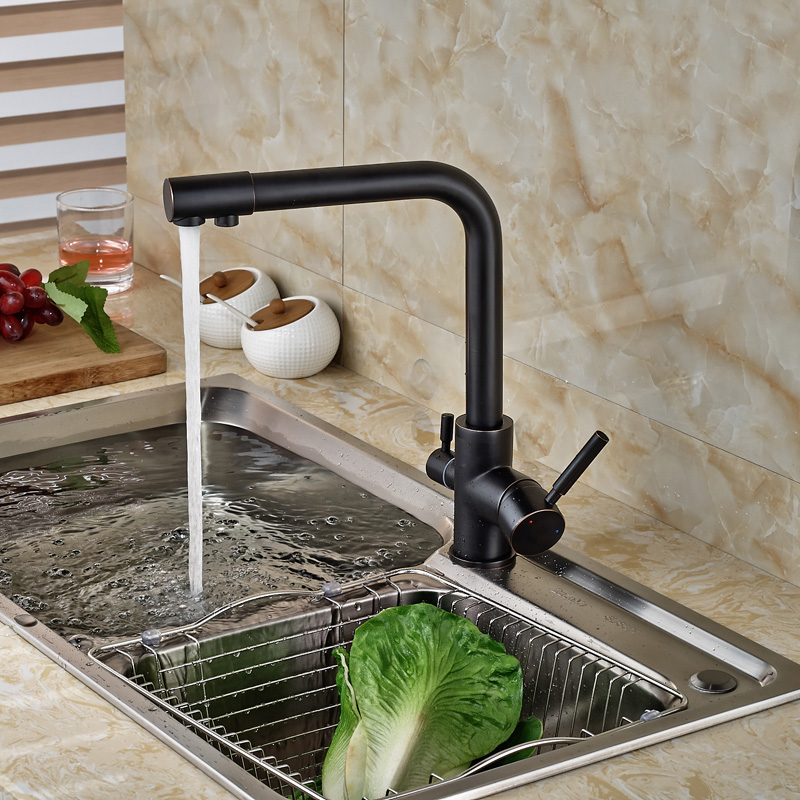White Kitchen Faucet Purity Kitchen Sink Mixer Tap Beige With Dot