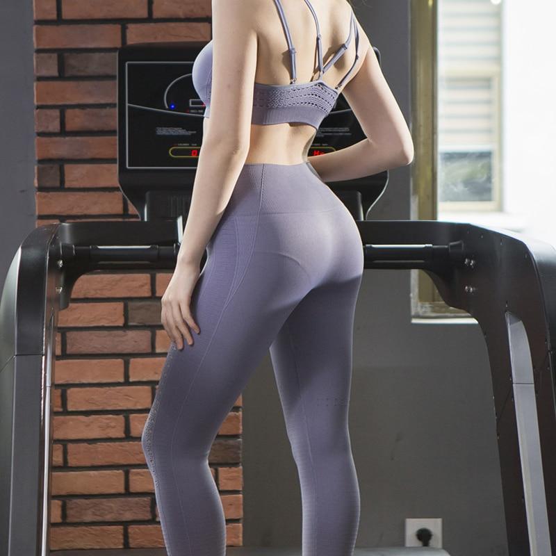 Vêtements de Sport femmes Sport ensemble Yoga soutien-gorge + pantalon solide Fitness hauts Racerback entraînement réservoir hauts course Sport gym vêtements