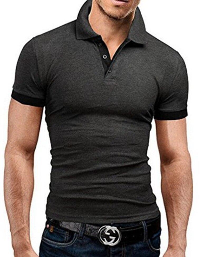 SchöN 2019 Mode Polo Shirt Männer Casual Drehen Unten Kragen Kurzarm Männer Hemd Slim Fit Herren Sommer Tops Polo Homme Plus Größe 5xl