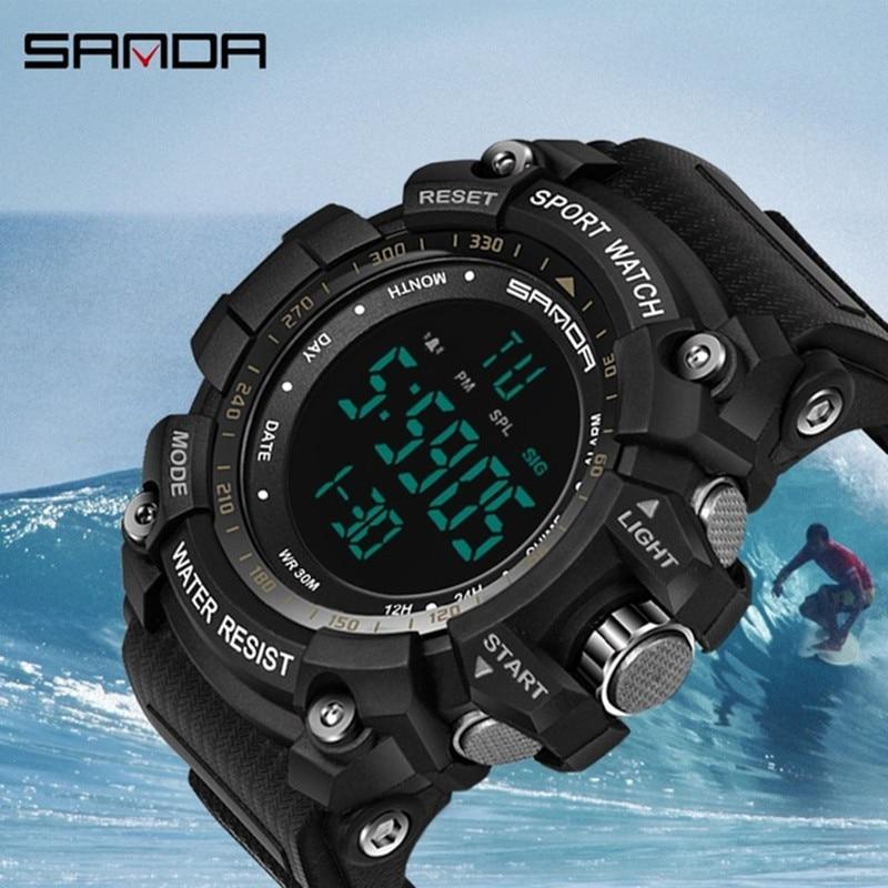 Sanda digitální hodinky pánské vojenské sportovní hodinky pánské hodiny hodinky Relogio Masculino 2018 nový design luxusní značka