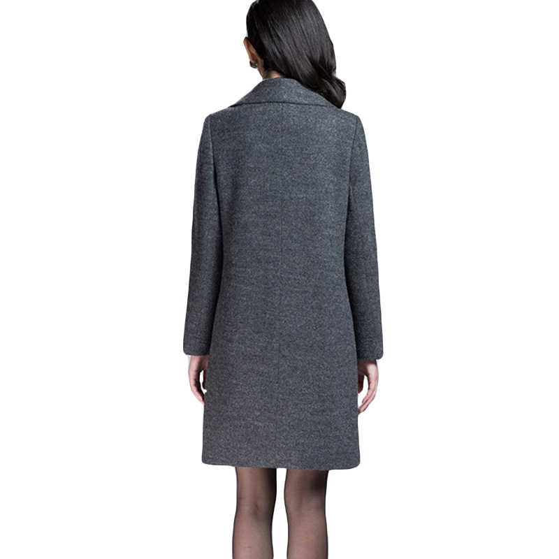 Lh200 Veste Dark Gray Ol Long De Nouvelle Automne 2017 Tempérament Manteau Hiver Pardessus Gris Slim Puls Laine Taille Akslxdmmd Femmes Mujer UBgqa