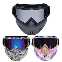 Fietsen Gezichtsmasker Winter Sport Ski Brillen Fiets Motorfiets Bril Fietsen Bril Dubbele Schuim Gezicht Cover Neus Protector