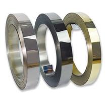 Декоративная полоса из нержавеющей стали гальванический 0,4 мм 0,5 мм x 8 см 100 м Титан Черный розовое золото