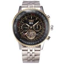 JARAGAR Mannen Horloges Relogio masculinos Mannelijke Top Brand Luxe Automatische Mechanische Horloge Mannen Roestvrij Staal Mannen Tourbillon Horloge
