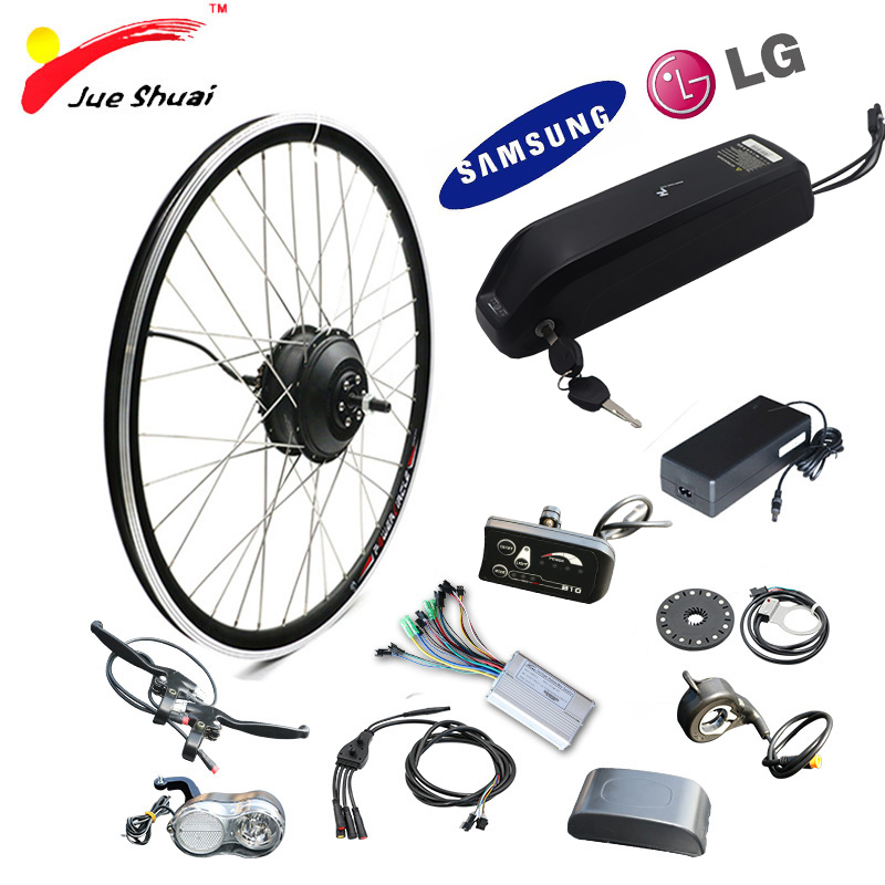 E bike Conversion Motor Wheel Kit 36V 250W Electric Bicycle Charger With Battery