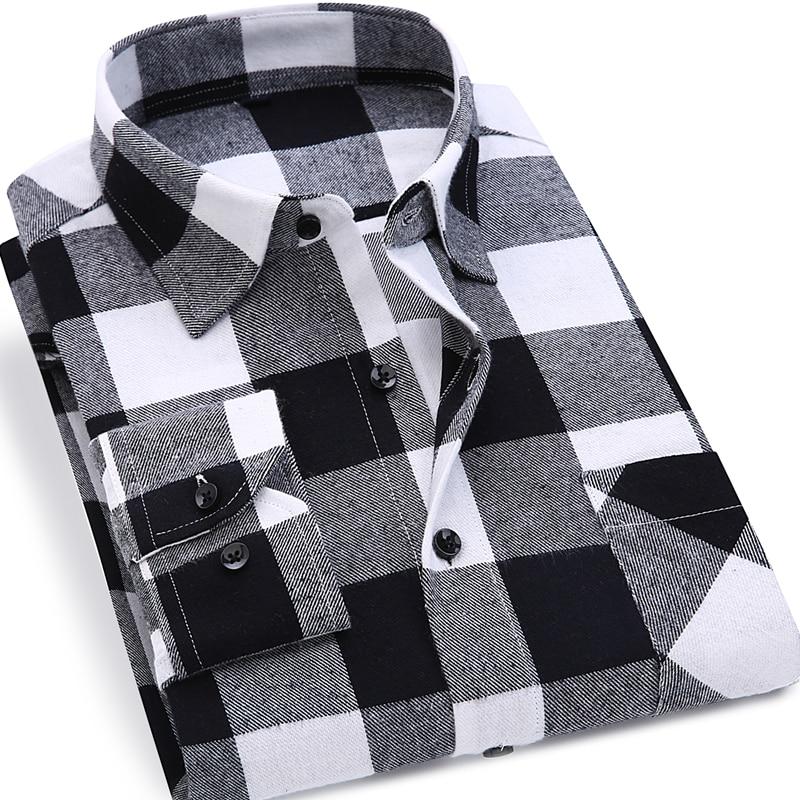 2019 neue mens kariertes hemd 100% baumwolle hohe qualität herren - Herrenbekleidung - Foto 2