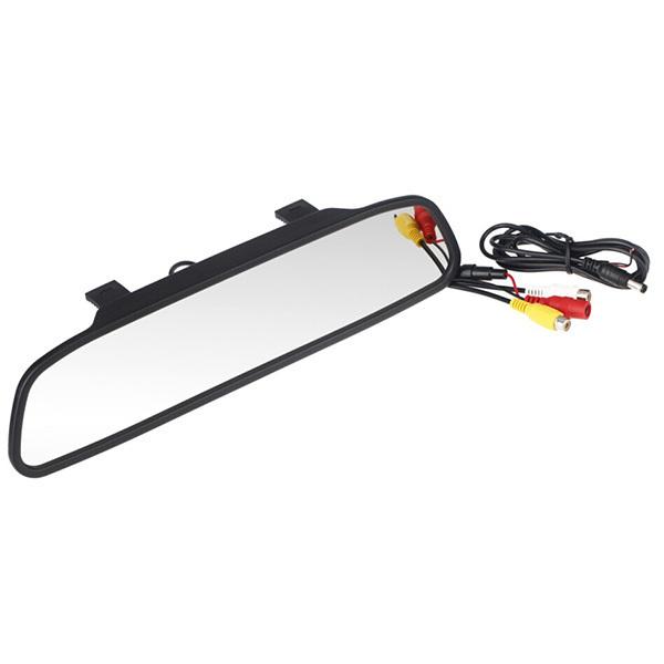 Univeral 4.3 Polegada Cor Ecrã TFT LCD Car Estacionamento Retrovisor Reversa Monitor para Câmera