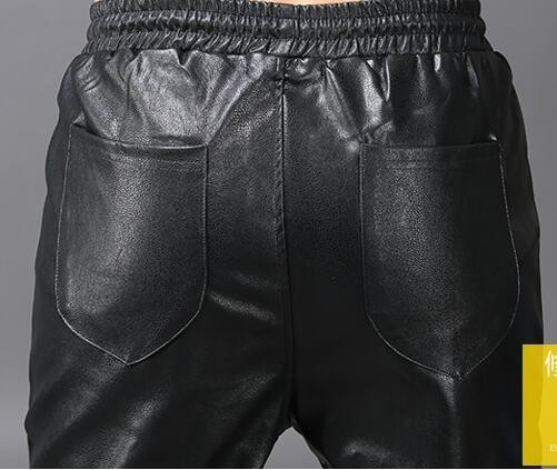 Hop Discothèque Cuir Faux 2241 Pantalon Noir Lâche Taille Automne Hip Élastique Streetwear Coréenne Harem En Moto Hiver Mode AFqqvwxg7