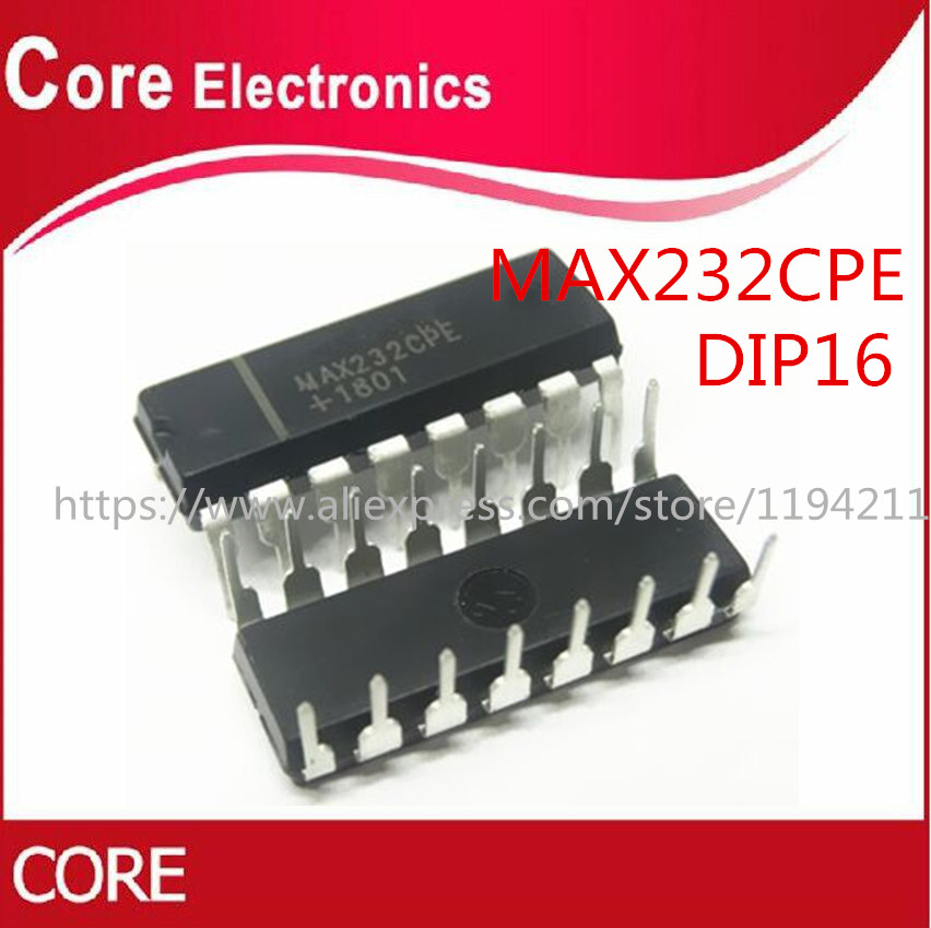 5PCS IC MAX232 2DVR//2RCVR RS232 5V 16-DIP NEW MAX232EPE