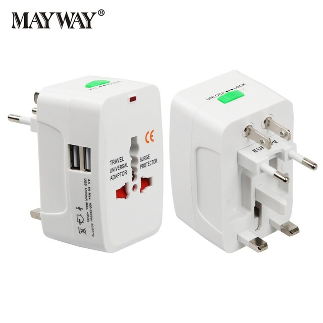Enchufe eléctrico adaptador de enchufe de corriente adaptador de viaje internacional enchufe Universal USB cargador convertidor EU UK US AU