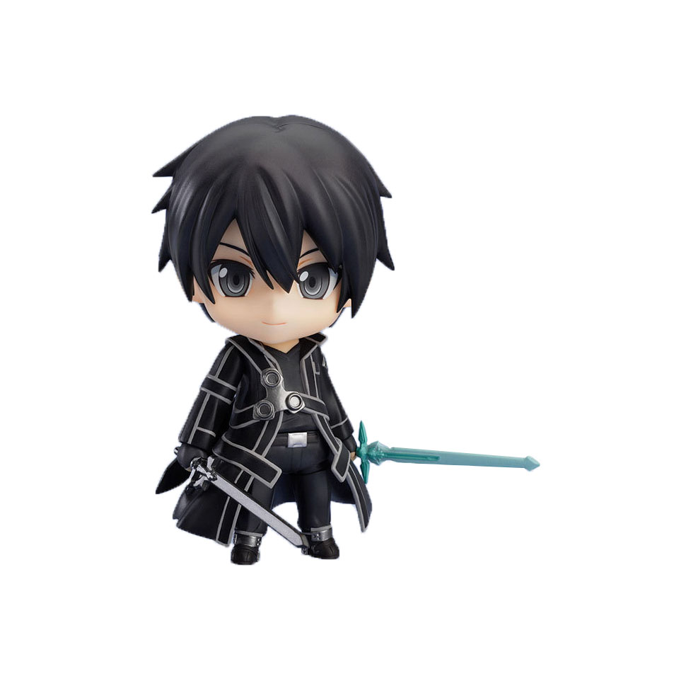 Chanycore Sword Art Online Kirigaya Kazuto Kirito 10cm SAO Action Anime Figure Model Doll Collection For birthday Gift 1058 nendoroid anime sword art online ii sao asada shino q version pvc action figure collection model toy christmas gifts 10cm