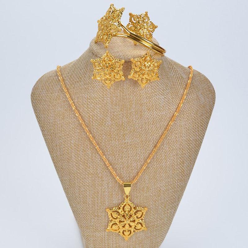 Bizhuteri me luksoze të hollë me shami Shamty Vendos Lule Ngjyrë e - Bizhuteri të modës - Foto 6