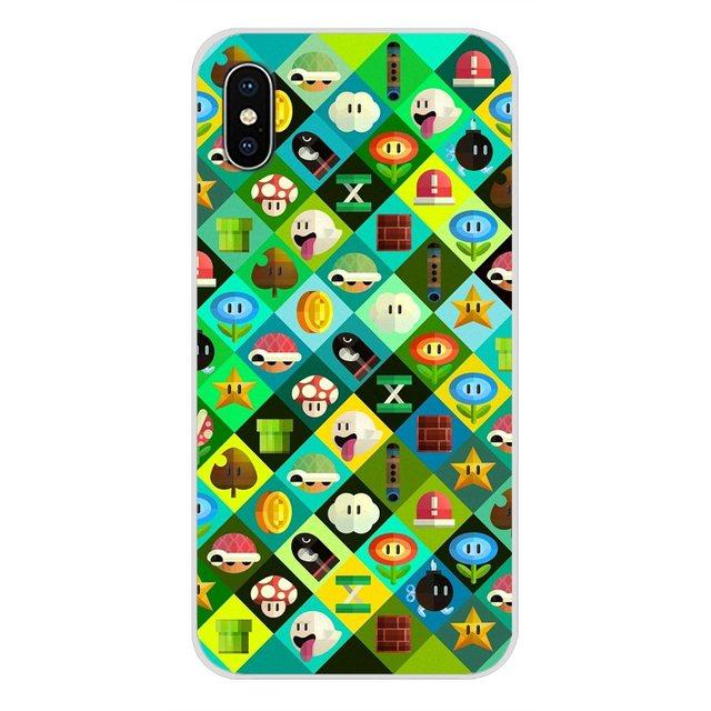 For Huawei Nova 2 3 2i 3i Y6 Y7 Y9 Prime Pro GR3 GR5 2017 2018 2019 Y5II Y6II super mario Adorable Transparent Soft Shell Covers