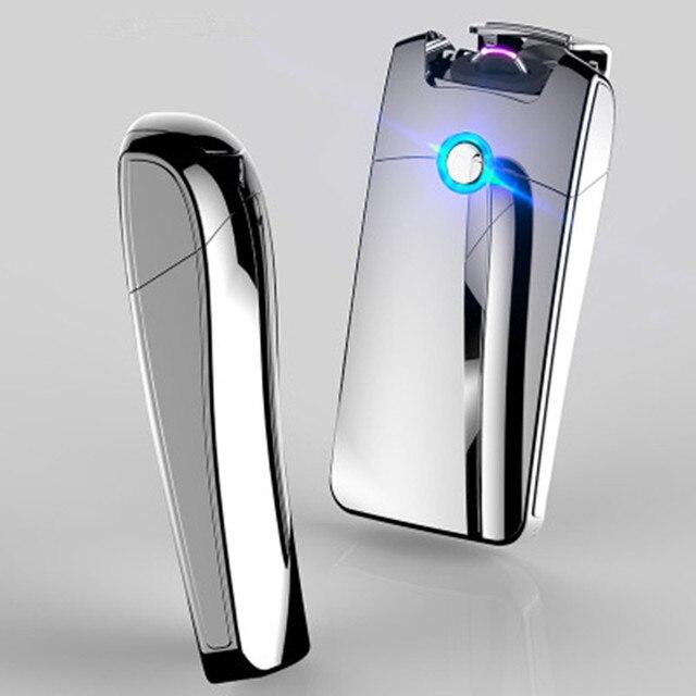 مصباح USB قوية قابلة للشحن الإلكترونية الشعلة أخف وزنا اكسسوارات السجائر البلازما السيجار قوس الرعد أخف وزنا