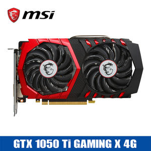 MSI GTX1050Ti Graphics Cards + HDMI Gaming X 4G Video Card 1150 MHz/7000 MHz
