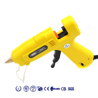 EU Plug 60W/100W adjustable temperature Control System Hot Melt Glue Gun Professional High Temp Heater Hot Glue Gun + 1PC Sticks