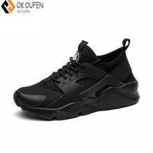 OKOUFEN sapatos casuais Novos Homens de Superstar Grife Tenis Masculino Adulto Ar Huarache Sapatos Krasovki dos homens Casuais Tamanho 36-47
