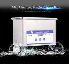 Новый Цифровой Ультразвуковой Ювелирные Cleaner Ванна для Очков Часы Монеты 0.8L Мини Ультразвуковой Очистки с LED для Бытовых(China (Mainland))