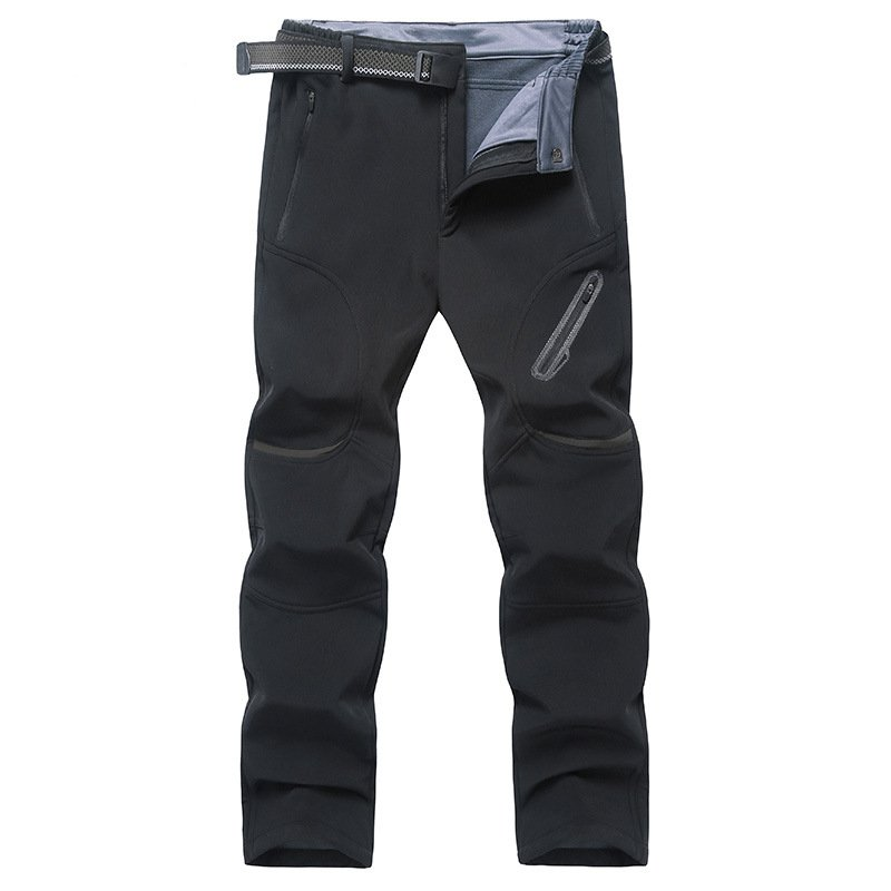 Men Hiking Pants Warm Waterproof Windproof Skiing Trekking Camping Large Size Fleece Softshell Outdoor Pants Trousers For Male